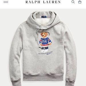 Ralph Lauren Hockey Bear Fleece Hoodie